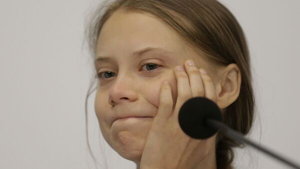 Climate activist Greta Thunberg takes part in a news conference at the COP25 climate summit in Madrid, Spain, Monday, 9 December 2019. - Sputnik International