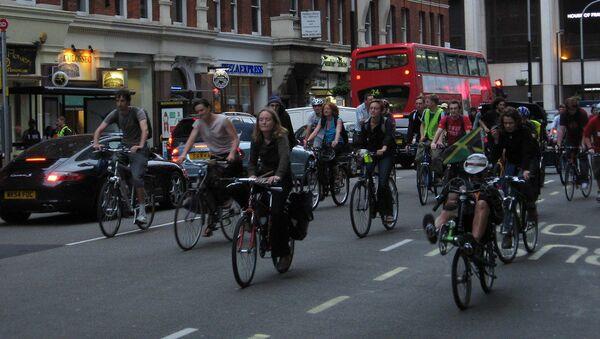 cycling in london - Sputnik International