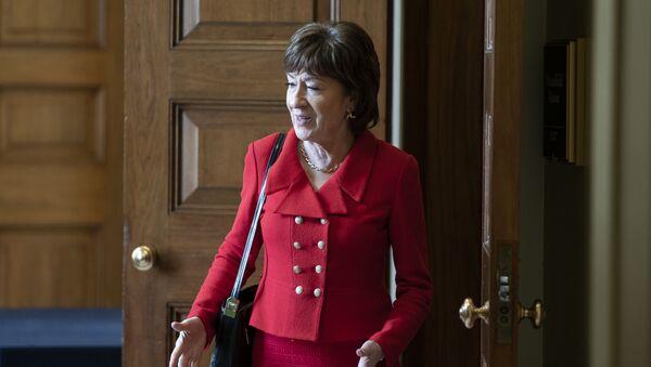 Senator Susan Collins (R-ME) departs a Senate policy lunch at the U.S. Capitol - Sputnik International