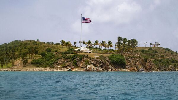 This Tuesday, July 9, 2019 photo shows a view of Little St. James Island, in the U. S. Virgin Islands, a property owned by Jeffrey Epstein - Sputnik International
