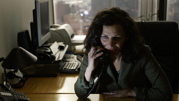 Massachusetts undersecretary of Homeland Security Juliette Kayyem talks on the phone at Executive Office of Public Safety in Boston, Thursday, Jan., 18, 2007 - Sputnik International