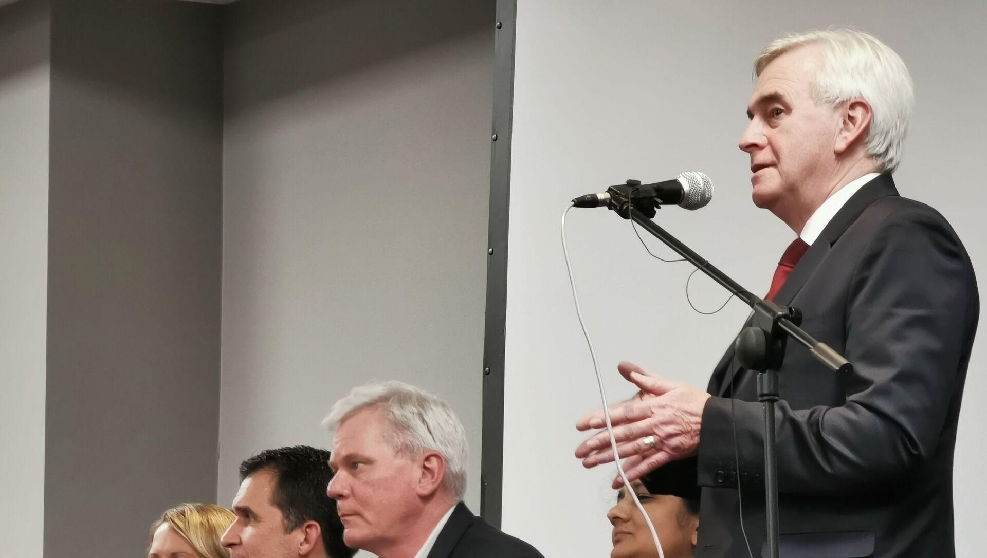 UK shadow chancellor John McDonnell speaks at a Wikileaks rally in London - Sputnik International, 1920, 27.07.2021