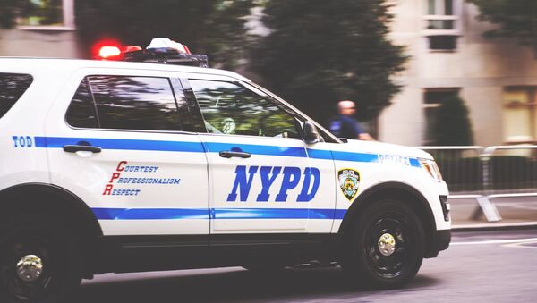 NYPD Car racing in New York - Sputnik International