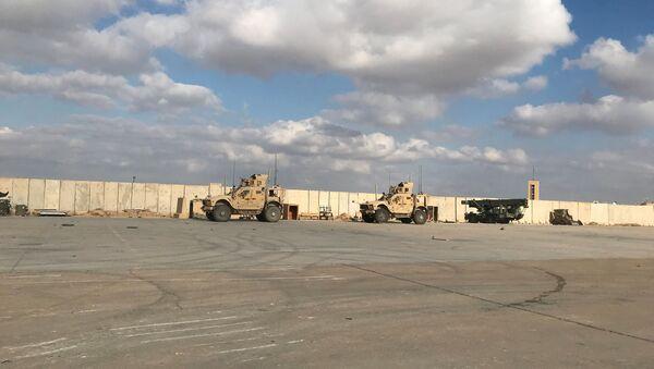 Military vehicles of U.S. soldiers are seen at Ain al-Asad air base in Anbar province, Iraq January 13, 2020 - Sputnik International