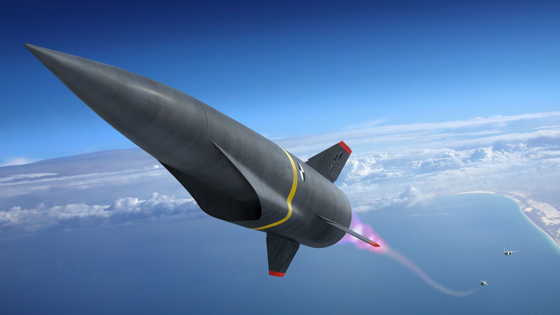 Artist's conception of a hypersonic missile during its launch phase. - Sputnik International, 1920, 28.09.2021