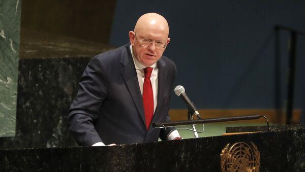 Russian ambassador to the United Nations Nebenzia Vassily - Sputnik International