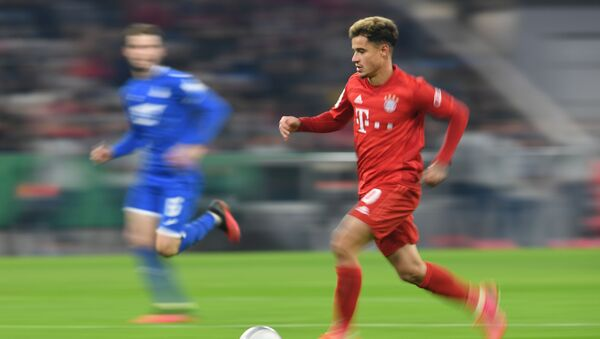 Soccer Football - DFB Cup - Third Round - Bayern Munich v TSG 1899 Hoffenheim - Allianz Arena, Munich, Germany - 5 February 2020, Bayern Munich's Philippe Coutinho in action. - Sputnik International