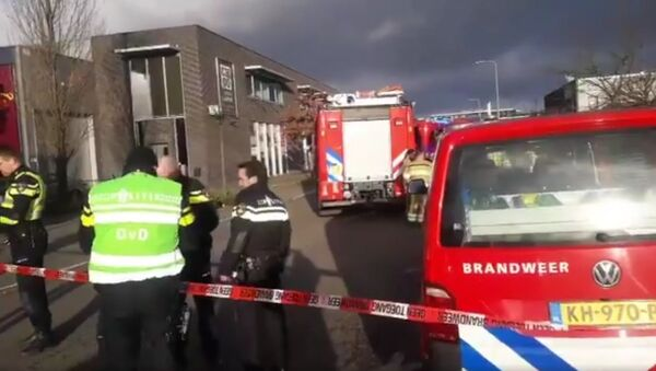 Police  and the fire brigade are investigating after explosion letter package in post sorting center  Kerkrade  - Sputnik International