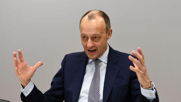 Christian Democratic Union party (CDU) politician Friedrich Merz speaks during an interview with Reuters in Berlin, Germany, January 14, 2020 - Sputnik International