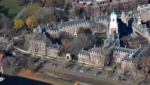 Aerial view of Eliot House, an undergraduate residential college of Harvard University, taken from the south - Sputnik International