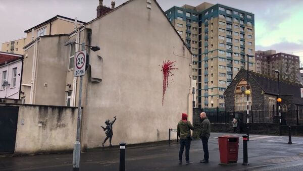 Suspected Banksy artwork has appeared in his home city of Bristol   SWNS - Sputnik International