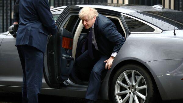 Britain's Prime Minister Boris Johnson arrives at Downing Street in London, Britain February 13, 2020.  - Sputnik International