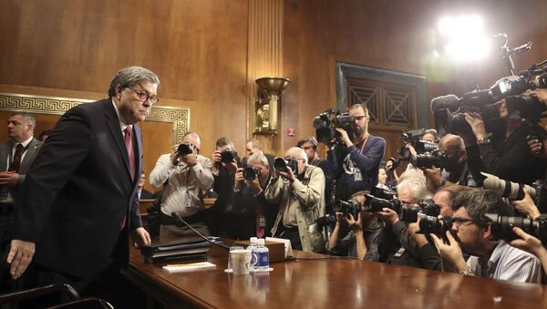 Attorney General William Barr arrives to testify during a Senate Judiciary Committee hearing on Capitol Hill in Washington, Wednesday, May 1, 2019, on the Mueller Report. - Sputnik International