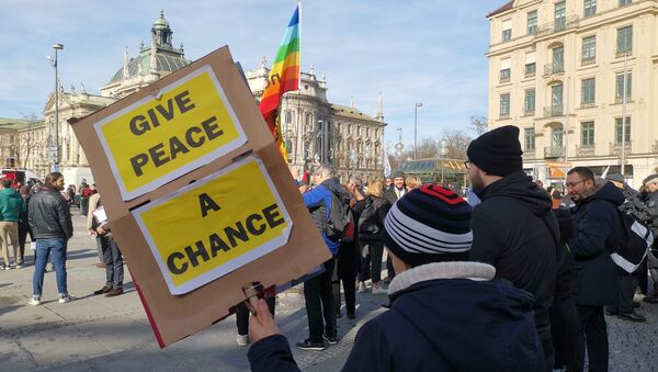 Activists rally in Bavarian capital against Munich Security Conference, 15 February 2020 - Sputnik International
