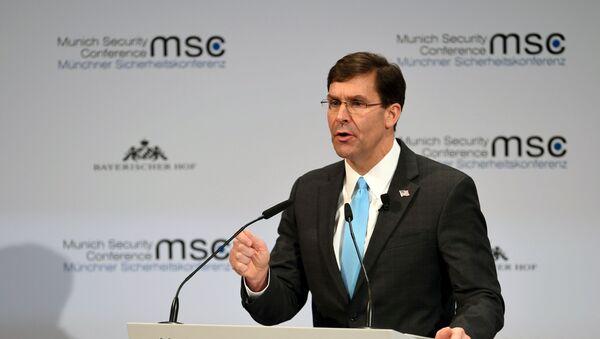 U.S. Defence Secretary Mark Esper speaks at the annual Munich Security Conference in Germany February 15, 2020.  - Sputnik International