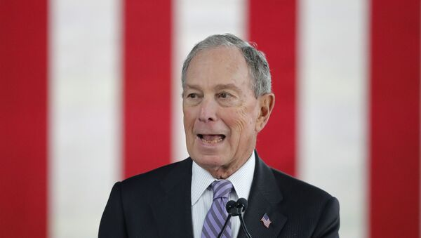 Democratic presidential candidate and former New York City Mayor Mike Bloomberg speaks at a campaign event in Raleigh - Sputnik International