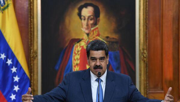 Venezuela's President Nicolas Maduro at Miraflores palace in Caracas - Sputnik International