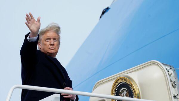 US President Donald Trump at Joint Base Andrews in Maryland - Sputnik International