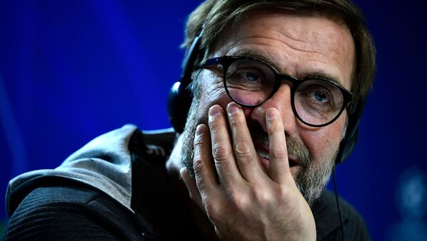 Liverpool's German manager Jurgen Klopp holds a press conference at the Wanda Metropolitano stadium in Madrid on February 17, 2020 on the eve of their Champions League football match against Club Atletico de Madrid - Sputnik International