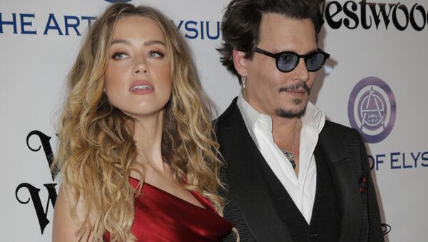Actors Amber Heard and Johnny Depp attend The Art of Elysium 2016 HEAVEN Gala presented by Vivienne Westwood & Andreas Kronthaler at 3LABS on January 9, 2016 in Culver City, California - Sputnik International
