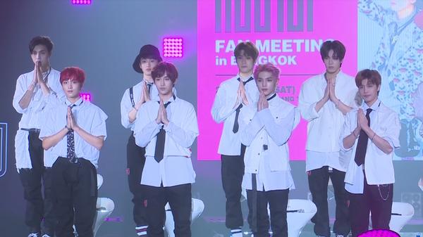 NCT 127 attending a fan meeting in Bangkok in September 2017 - Sputnik International