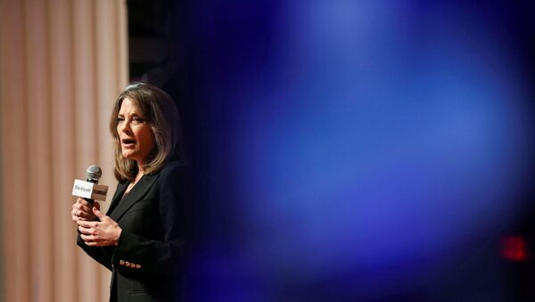 Democratic presidential candidate and author Marianne Williamson speaks at the One Iowa and GLAAD LGBTQ Presidential Forum in Cedar Rapids, Iowa, September 20, 2019 - Sputnik International