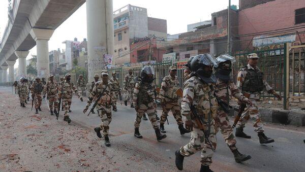 Police at protests in Delhi - Sputnik International