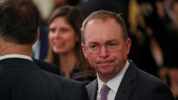 Acting White House Chief of Staff Mick Mulvaney arrives prior to U.S. President Donald Trump's statement about his acquittal on impeachment charges by the U.S. Senate in the East Room of the White House in Washington, U.S., February 6, 2020. - Sputnik International