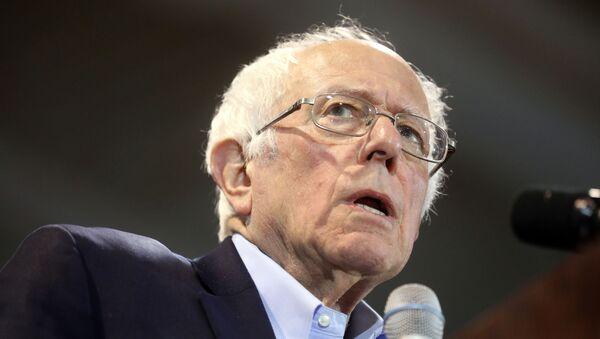 Democratic U.S. presidential candidate Senator Bernie Sanders speaks at his South Carolina primary night rally in Virginia Beach, Virginia, U.S., February 29, 2020. - Sputnik International