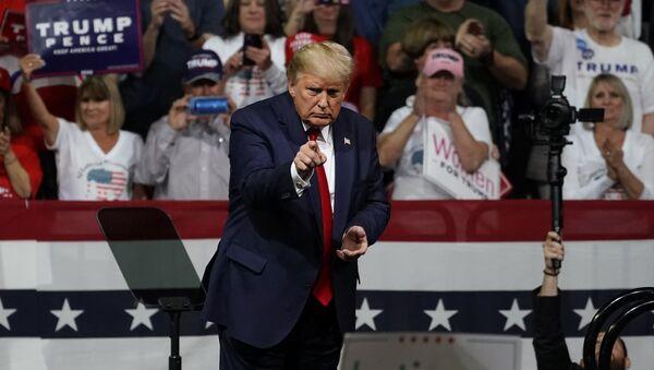 President Donald Trump speaks at a rally Wednesday, Feb. 19, 2020 in Phoenix. - Sputnik International
