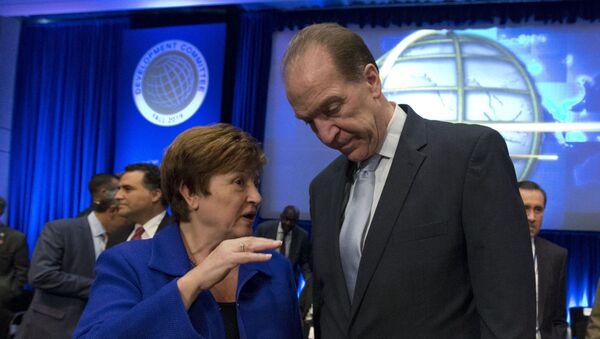 IMF Managing Director Kristalina Georgieva and World Bank President David Malpass at the World Bank/IMF Annual Meetings in Washington - Sputnik International