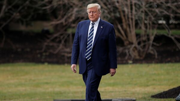 U.S. President Donald Trump departs to attend a briefing at the National Institutes of Health (NIH) Vaccine Research Center from the South Lawn of the White House in Washington, U.S., March 3, 2020 - Sputnik International