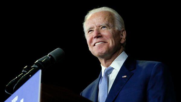 Democratic U.S. presidential candidate and former Vice President Joe Biden speaks at his Super Tuesday night rally in Los Angeles, California, U.S., March 3, 2020 - Sputnik International