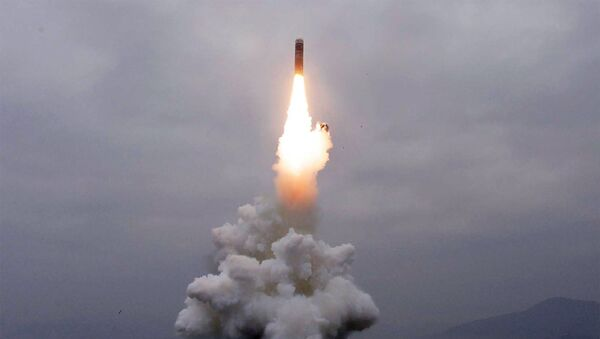 Test-firing of the new-type SLBM Pukguksong-3 in the waters off Wonsan Bay of the East Sea of Korea - Sputnik International