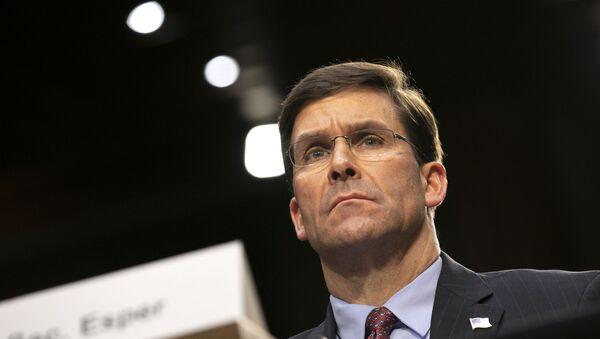 Defence Secretary Mark Esper on Capitol Hill in Washington - Sputnik International