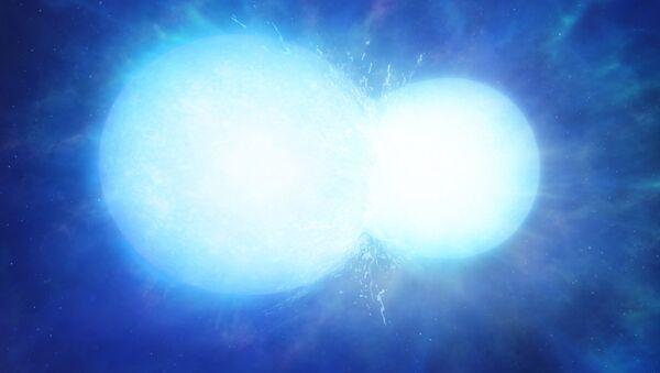 Artist's impression of two white dwarfs merging - Sputnik International