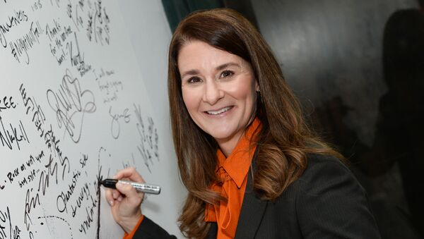 Philanthropist Melinda Gates participates in AOL's BUILD Speaker Series at AOL Studios on Tuesday, March 10, 2015, in New York.  - Sputnik International