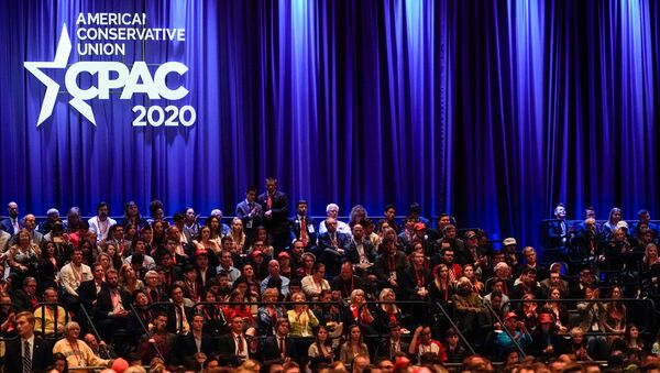 People listen at the Conservative Political Action Conference (CPAC) annual meeting at National Harbor in Oxon Hill, Maryland - Sputnik International