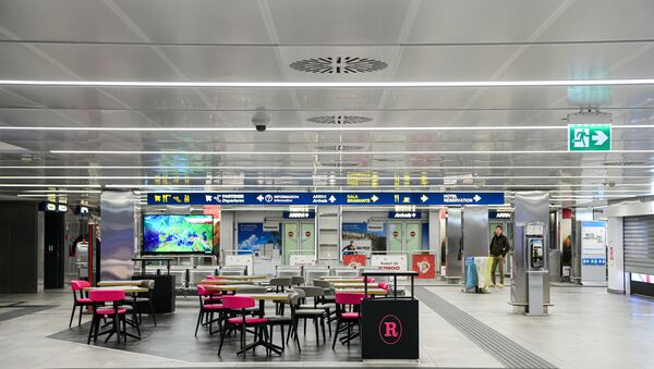 A picture taken on 8 March 2020 shows an empty room of Linate Airport in Milan, after millions of people were placed under forced quarantine in northern Italy as the government approved drastic measures in an attempt to halt the spread of the deadly coronavirus that is sweeping the globe. - On top of the forced quarantine of 15 million people in vast areas of northern Italy until 3 April the government has also closed schools, nightclubs and casinos throughout the country, according to the text of the decree published on the government website. With more than 230 fatalities, Italy has recorded the most deaths from the COVID-19 disease of any country outside China, where the outbreak began in December. - Sputnik International