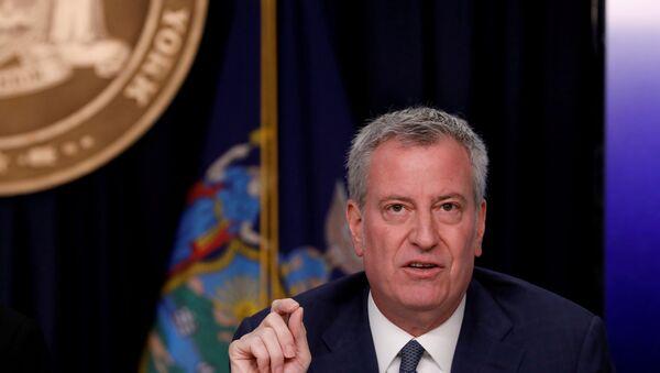 New York City Mayor Bill de Blasio is seen at a news briefing in the Manhattan borough of New York City, New York, U.S., March 2, 2020 - Sputnik International