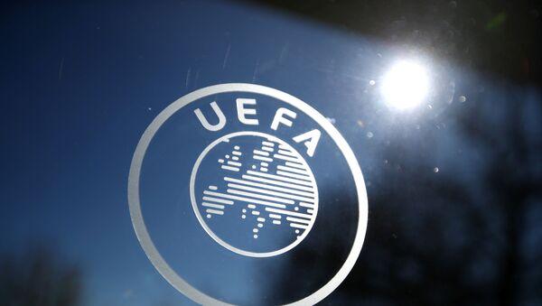 General view of the UEFA logo at UEFA Headquarters - Sputnik International