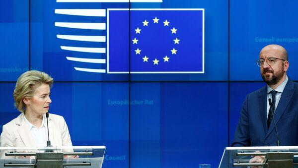 EU Council President Charles Michel and European Commission President Ursula von der Leyen - Sputnik International