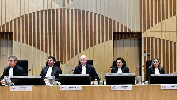 Judges attend the criminal trial against four suspects - Sputnik International