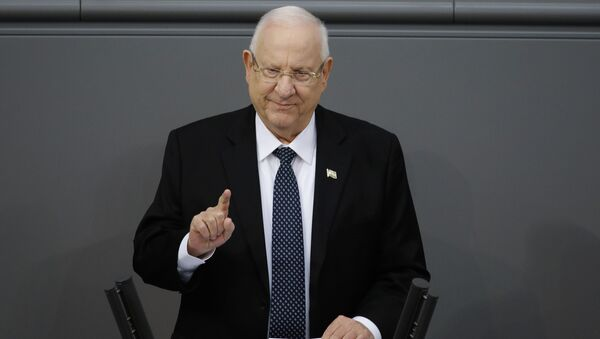 FILE - In this Jan. 29, 2020 file photo, Israel's President Reuven Rivlin delivers a speech during a special meeting of the German Parliament Bundestag commemorating the victims of the Holocaust, in Berlin, Germany - Sputnik International