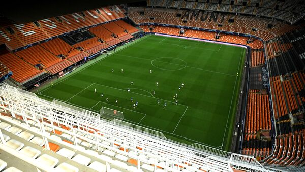 Soccer Football - Champions League - Round of 16 Second Leg - Valencia v Atalanta - Mestalla, Valencia, Spain - March 10, 2020  General view in the empty stadium as the match is played behind closed doors as the number of coronavirus cases grow around the world   - Sputnik International