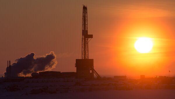 A drilling rig at the oil company Rosneft's site at the Tsentralno-Olginskaya-1 well. - Sputnik International