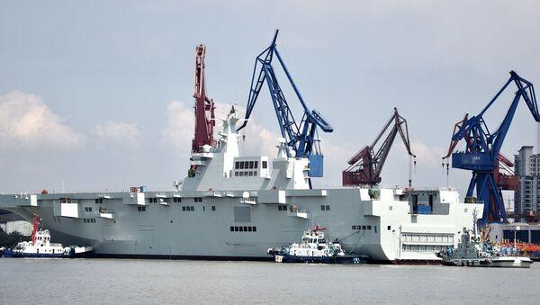 China's Type 075 Helicopter Landing Dock - Sputnik International
