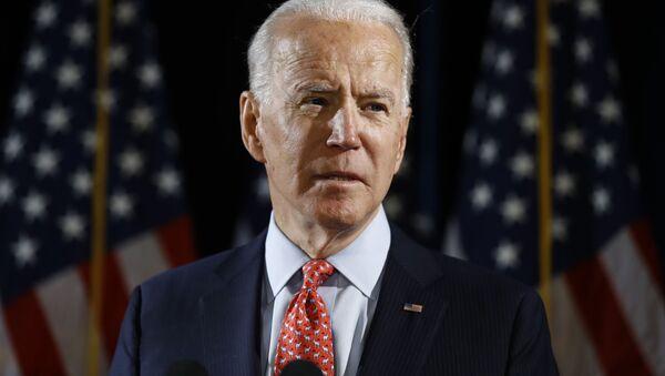 Democratic presidential candidate former Vice President Joe Biden speaks about the coronavirus Thursday, March 12, 2020, in Wilmington, De. - Sputnik International