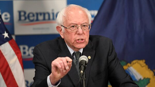 Democratic U.S. presidential candidate Bernie Sanders speaks about coronavirus in Burlington, Vermont, U.S. March 12, 2020.  - Sputnik International