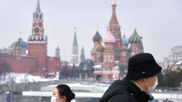 Tourists in Masks in Moscow - Sputnik International